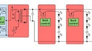 一个三级电源就可高效驱动多个LED串