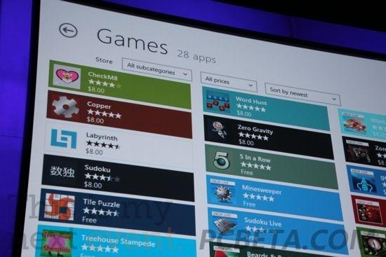 Windows商店游戏应用界面